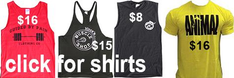 muscle shirts, stringer tanks, recerback tanks - Vince's Muscle Shop