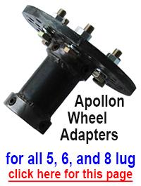 Apollon strongman axle wheel collar adapter 5 6 8 lug bolt